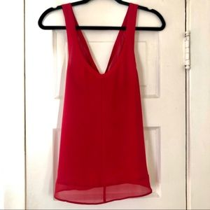 Urban Outfitters Red Tank Top with Cutout details